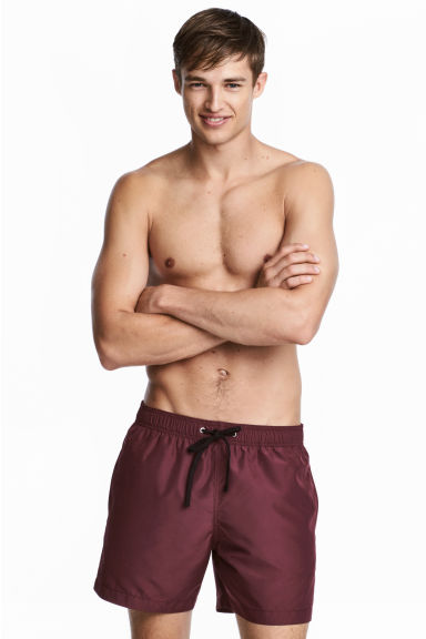 Short swim shorts - Burgundy - Men | H&M CN