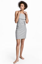Ribbed nightslip - Grey marl - Ladies | H&M 1