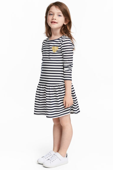 2-pack jersey dresses - Dark blue/Striped -  | H&M