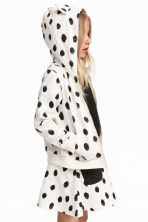 Patterned hooded jacket - White/Spotted - Kids | H&M 1