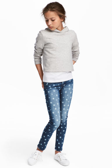 Skinny Fit Jeans - Denim blue/Star - Kids | H&M 1