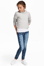 Superstretch Skinny Fit Jeans - Denimblå/Stjärnor - Kids | H&M FI 1