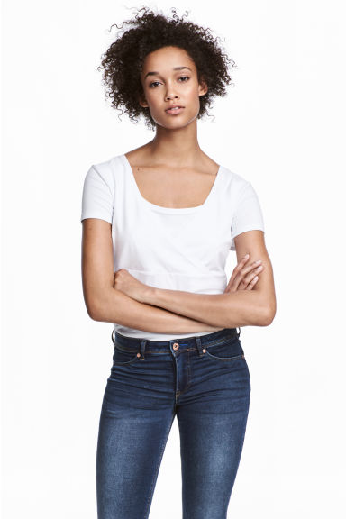 MAMA 2-pack nursing tops - White/Black - Ladies | H&M 1