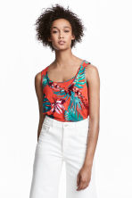 MAMA Top d'allaitement - Orange/motif - FEMME | H&M BE 1