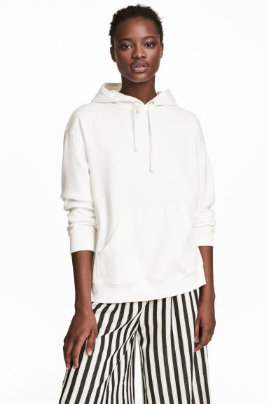 Hooded top - White - Ladies | H&M 1