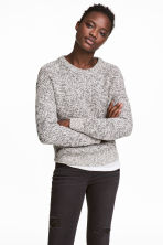 Ribbed jumper - White marl - Ladies | H&M CN 1
