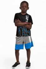 Sports shorts - Dark grey/Blue - Kids | H&M 1
