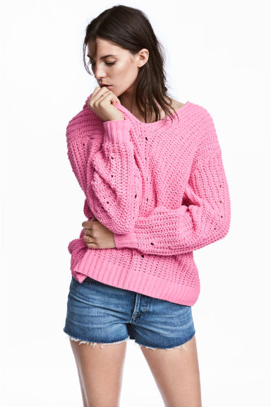 Oversized jumper - Pink - Ladies | H&M CN