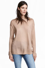 Fine-knit Sweater - Beige - Ladies | H&M CA 1