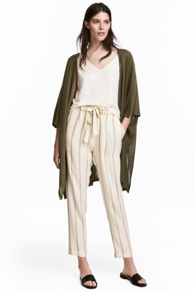 Fine-knit cardigan - Khaki green -  | H&M 1