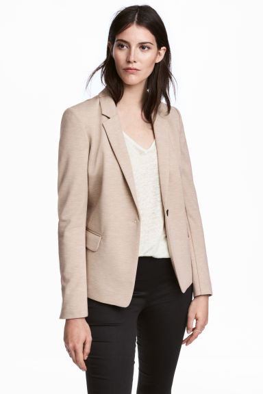 Jersey jacket - Beige marl - Ladies | H&M CN 1