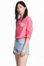 Sweatshirt with Printed Design - Pink - Ladies | H&M CA 1