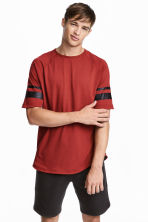 Short-sleeved sports top - Rust red - Men | H&M CA 1