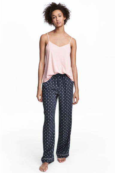 Pyjamas - Dark blue/Patterned - Ladies | H&M CA 1