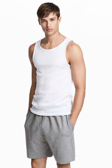 Short jersey shorts - Grey marl - Men | H&M 1