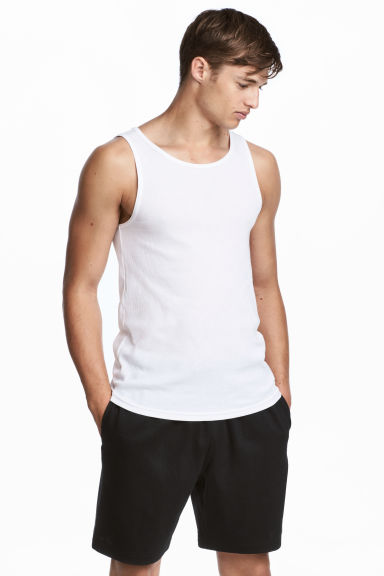 Short jersey shorts - Black - Men | H&M CN 1