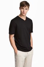 3 T-shirts - Regular fit - Zwart - HEREN | H&M BE 1
