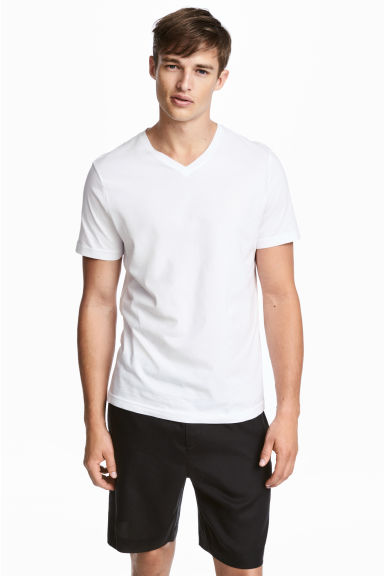 3-pack t-shirts Regular fit - Vit - HERR | H&M FI