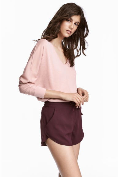 Fine-knit jumper - Light pink - Ladies | H&M CA 1