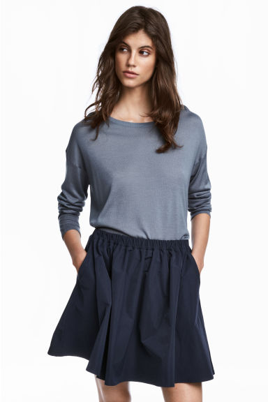 Fine-knit jumper - Blue-grey - Ladies | H&M 1