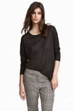 Fine-knit jumper - Dark grey - Ladies | H&M CN 1