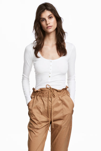Henley shirt - White - Ladies | H&M 1