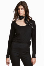 Long-sleeved top - Black - Ladies | H&M CN 1