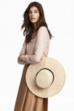 Long-sleeved top - Light beige - Ladies | H&M CA 1