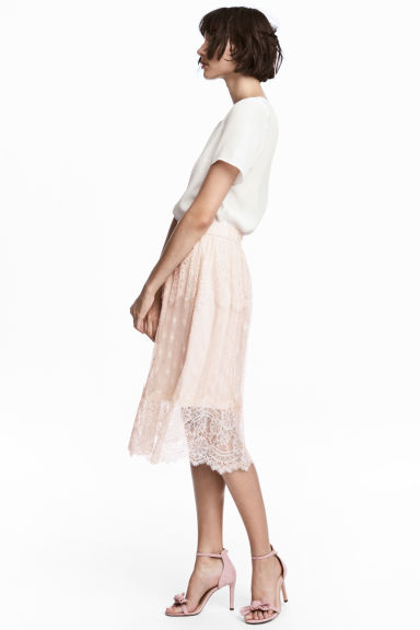 Knee-length Skirt - Light beige - Ladies | H&M CA 1