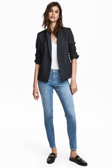 Skinny Low Jeans - Middel denimblauw - DAMES | H&M BE 1