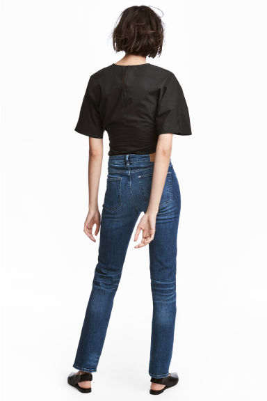 Straight Regular Jeans - Donker denimblauw - DAMES | H&M BE 1