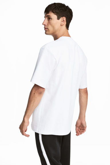 Oversized T-shirt - White - Men | H&M