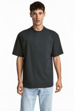 Round-neck T-shirt Relaxed fit - Dark grey - Men | H&M 1