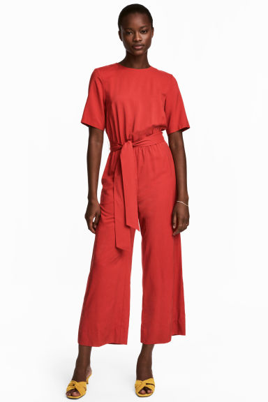 Jumpsuit - Red - Ladies | H&M