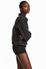 Embellished denim jacket - Nearly black/Stars - Ladies | H&M 1