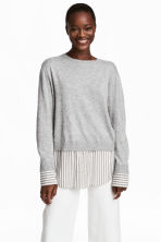 Fine-knit top - Grey marl - Ladies | H&M 1