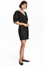 V-neck Dress - Black - Ladies | H&M CA 1