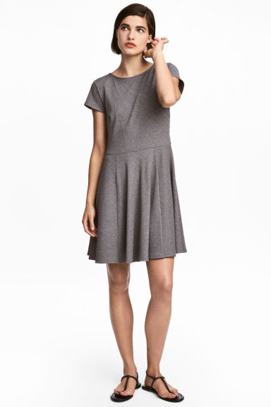 Jersey dress - Dark grey marl - Ladies | H&M