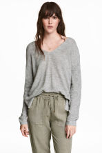 Fine-knit jumper - Grey marl -  | H&M 1