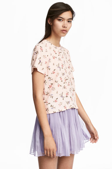 Top à motif - Rose poudré/fleuri -  | H&M BE