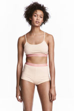 Pyjamas with top and shorts - Light pink - Ladies | H&M 1