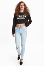 Skinny High Ripped Jeans - Licht denimblauw - DAMES | H&M BE 1