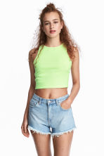 Short vest top - Yellow - Ladies | H&M CA 1