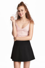 Tricot crop top - Poederroze - DAMES | H&M BE 1