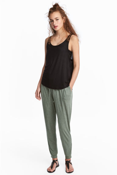 Joggers - Khaki green - Ladies | H&M CN 1
