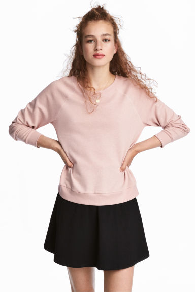Sweatshirt - Powder pink - Ladies | H&M GB 1