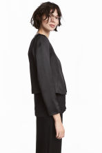 Short satin jacket - Black - Ladies | H&M 1