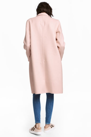 Wool-blend coat - Powder pink - Ladies | H&M CN 1