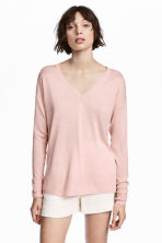 Fine-knit jumper - Light pink - Ladies | H&M 1
