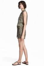 Lyocell playsuit - Khaki green - Ladies | H&M 1